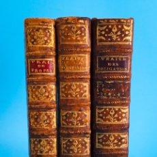 Libros antiguos: AÑO 1776 - LOTE DE 3 LIBROS DEL SIGLO XVIII EN EXCELENTE ESTADO DE CONSERVACIÓN - TRATADOS.. Lote 275338788