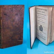 Livres anciens: AÑO 1796 - LAS METAMORFOSIS DE OVIDIO - LATÍN - SIGLO XVIII.. Lote 275535673