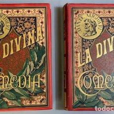 Livres anciens: LA DIVINA COMEDIA - 2 TOMOS - DANTE ALIGHIERI - ILUSTRADO POR DORÉ - MONTANER Y SIMÓN - 1884. Lote 275711503