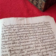 Livres anciens: AÑO 1592 - 32 CM - PRECIOSO MANUSCRITO EN CASTELLANO ANTIGUO EN LETRA CORTESANA. Lote 275974373