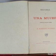 Libros antiguos: ALBUM DE PLANAS. HISTORIA DE UNA MUJER. EUSEBIO PLANAS. TIP. JUAN ALEU. 1880.. Lote 276251403