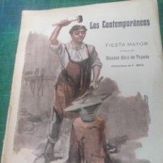 Libros antiguos: V. DÍEZ DE TEJADA. FIESTA MAYOR. LOS CONTEMPORÁNEOS.. Lote 276300273