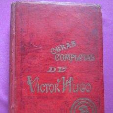 Livres anciens: ODAS Y BALADAS - DIOS OBRAS COMPLETAS DE VÍCTOR HUGO. Lote 276668898