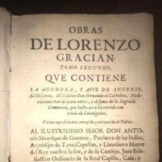 Libros antiguos: 1674 - OBRAS DE LORENZO GRACIÁN. TOMO II. MADRID. Lote 276683563