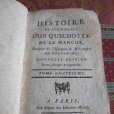 Libros antiguos: 1752-DON QUIJOTE DE LA MANCHA.MIGUEL DE CERVANTES.FRANCÉS.TOMO 4. ORIGINAL. Lote 277166668