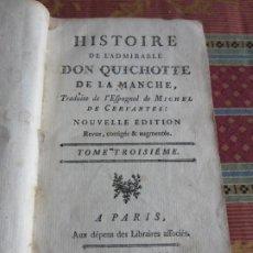 Libros antiguos: 1752-DON QUIJOTE DE LA MANCHA.MIGUEL DE CERVANTES.FRANCÉS.TOMO 3. ORIGINAL. Lote 277166918
