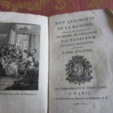 Libros antiguos: 1799-DON QUIJOTE DE LA MANCHA.MIGUEL DE CERVANTES.FRANCÉS.UN GRABADO.TOMO 6. ORIGINAL.AÑO VII. Lote 277173358
