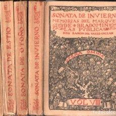 Libros antiguos: VALLE INCLÁN : SONATA DE PRIMAVERA, ESTÍO, OTOÑO, INVIERNO - 4 TOMOS (OPERA OMNIA, 1917-1918). Lote 277735508