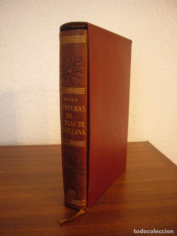 LESAGE: AVENTURAS DE GIL BLAS DE SANTILLANA (VERGARA, 1959) PRIMERA ED. EN PLENA PIEL CON ESTUCHE (Libros antiguos (hasta 1936), raros y curiosos - Literatura - Narrativa - Clásicos)