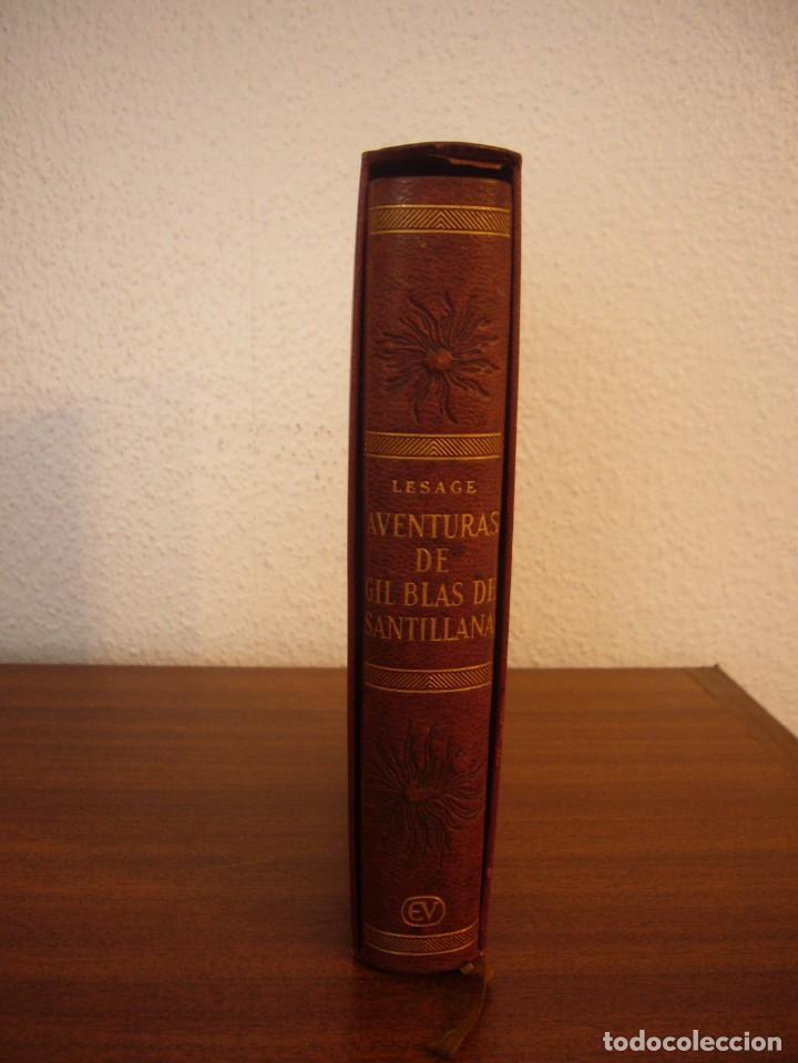 Libros antiguos: LESAGE: AVENTURAS DE GIL BLAS DE SANTILLANA (VERGARA, 1959) PRIMERA ED. EN PLENA PIEL CON ESTUCHE - Foto 2 - 278609513