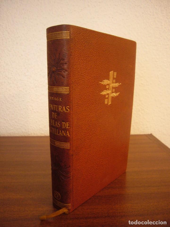 Libros antiguos: LESAGE: AVENTURAS DE GIL BLAS DE SANTILLANA (VERGARA, 1959) PRIMERA ED. EN PLENA PIEL CON ESTUCHE - Foto 3 - 278609513