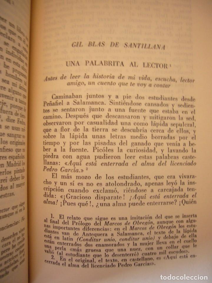 Libros antiguos: LESAGE: AVENTURAS DE GIL BLAS DE SANTILLANA (VERGARA, 1959) PRIMERA ED. EN PLENA PIEL CON ESTUCHE - Foto 7 - 278609513