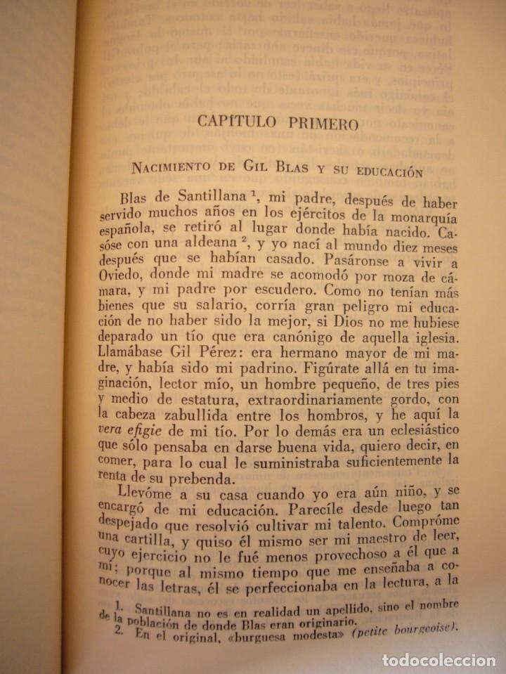 Libros antiguos: LESAGE: AVENTURAS DE GIL BLAS DE SANTILLANA (VERGARA, 1959) PRIMERA ED. EN PLENA PIEL CON ESTUCHE - Foto 8 - 278609513