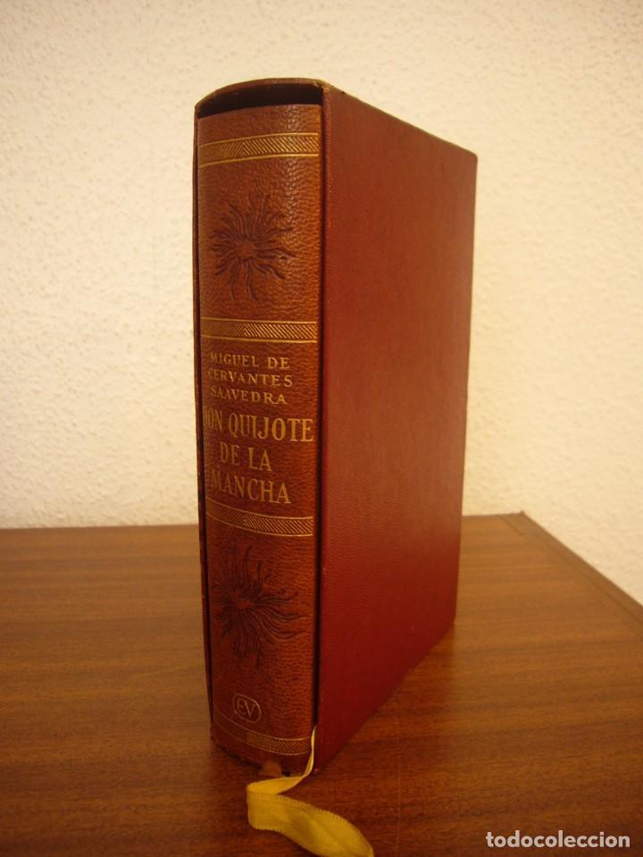CERVANTES: DON QUIJOTE DE LA MANCHA (VERGARA, 1958) PAPEL BIBLIA. PRIMERA EDICIÓN EN PLENA PIEL. (Libros antiguos (hasta 1936), raros y curiosos - Literatura - Narrativa - Clásicos)