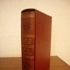 Libros antiguos: CERVANTES: DON QUIJOTE DE LA MANCHA (VERGARA, 1958) PAPEL BIBLIA. PRIMERA EDICIÓN EN PLENA PIEL.. Lote 278610648