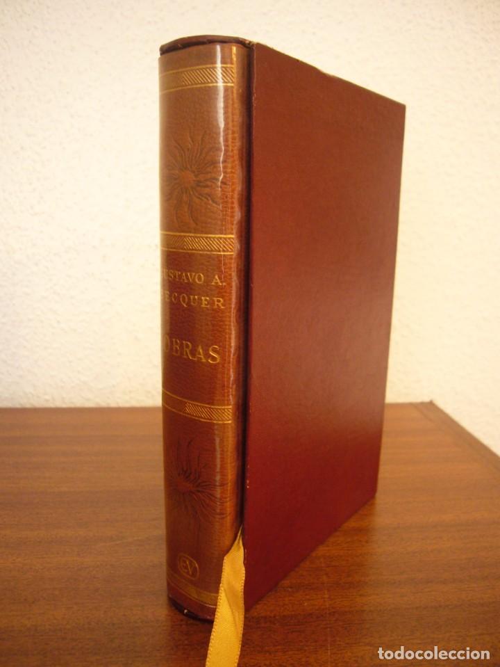 BÉCQUER: OBRAS (VERGARA, 1962) PAPEL BIBLIA. PRIMERA ED. EN PLENA PIEL CON ESTUCHE. PERFECTO. (Libros antiguos (hasta 1936), raros y curiosos - Literatura - Narrativa - Clásicos)
