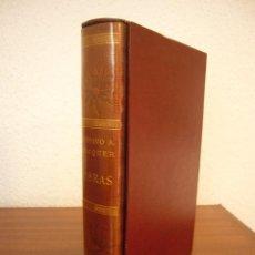 Libros antiguos: BÉCQUER: OBRAS (VERGARA, 1962) PAPEL BIBLIA. PRIMERA ED. EN PLENA PIEL CON ESTUCHE. PERFECTO.. Lote 278612818