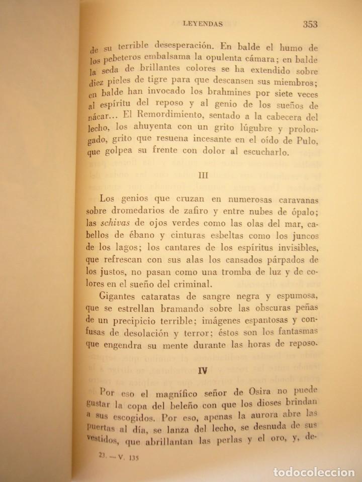 Libros antiguos: BÉCQUER: OBRAS (VERGARA, 1962) PAPEL BIBLIA. PRIMERA ED. EN PLENA PIEL CON ESTUCHE. PERFECTO. - Foto 7 - 278612818