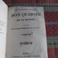 Libros antiguos: 1827-DON QUIJOTE.MIGUEL DE CERVANTES.2 TOMOS 3-4 EN UN VOLUMEN.ESPAÑOL.CASTELLANO.ORIGINAL. Lote 278754398