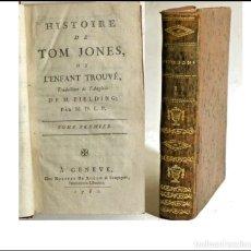 Libros antiguos: AÑO 1782: HISTORIA DE TOM JONES. LIBRO DEL SIGLO XVIII.. Lote 278820678