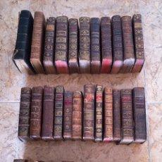 Libros antiguos: GRAN BIBLIOTECA - LOTE DE 37 LIBROS ANTIGUOS - SIGLOS XVII, XVIII Y XIX - PIEL -ABUNDANTES GRABADOS.. Lote 285476353