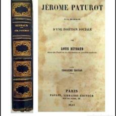 Livres anciens: AÑO 1844. JÈROME PATUROT.. Lote 286327123