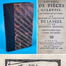 Libri antichi: AÑO 1674 - PIEZAS GALANTES - LIBRO DE 347 AÑOS DE LA ESCRITORA HENRIETTE DE LA SUZE - RARO Y ESCASO.. Lote 286340468