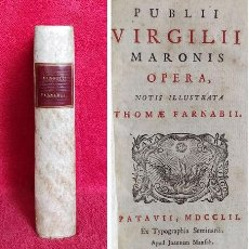 Libri antichi: AÑO 1752 - PRECIOSO EJEMPLAR DE VIRGILIO ; LA ENEIDA - GEORGICAS - BUCOLICAS. Lote 286342493