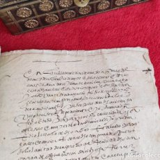 Libri antichi: AÑO 1603 - 31 CM - PRECIOSO MANUSCRITO DE 20 PÁGS. EN CASTELLANO ANTIGUO EN LETRA PROCESAL - GRANADA. Lote 286380278