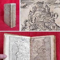Libros antiguos: AÑO 1574 - JULIO CÉSAR - COMENTARIOS DE LA GUERRA DE LAS GALIAS - 2 MAPAS - 6 GRABADOS - ROMA. Lote 286401838