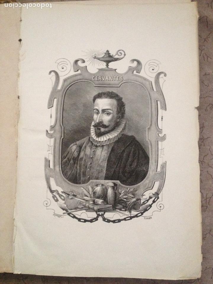Libros antiguos: EL QUIJOTE. EDICION DE 1876- TIRADA DE GRAN LUJO- -Obradors y Suli- Barcelona- - Foto 2 - 286516613