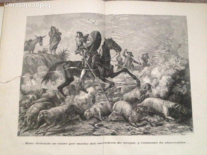 Libros antiguos: EL QUIJOTE. EDICION DE 1876- TIRADA DE GRAN LUJO- -Obradors y Suli- Barcelona- - Foto 4 - 286516613