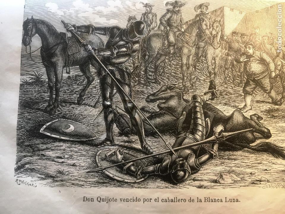 Libros antiguos: EL QUIJOTE. EDICION DE 1876- TIRADA DE GRAN LUJO- -Obradors y Suli- Barcelona- - Foto 5 - 286516613