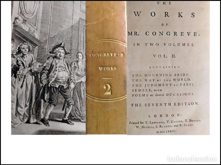 AÑO 1774: OBRAS DE CONGREVE. LITERATURA ANTIPURITANA DEL SIGLO XVIII. (Libros antiguos (hasta 1936), raros y curiosos - Literatura - Narrativa - Clásicos)