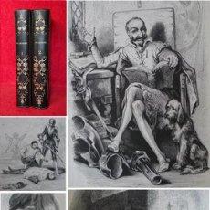 Libri antichi: AÑO 1836 - 26 CM - DON QUIJOTE DE LA MANCHA - COMPLETO- 800 GRABADOS + MAPA - ILUSTRADO POR JOHANNOT. Lote 286885288