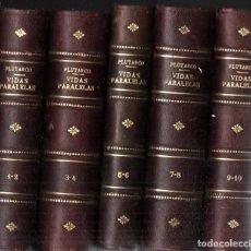Libri antichi: PLUTARCO : VIDAS PARALELAS COMPLETAS - 5 TOMOS (CALPE, 1921). Lote 287315048