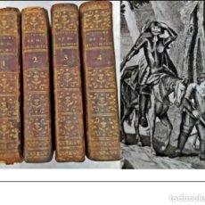 Libros antiguos: AÑO 1773: DON QUIJOTE DE LA MANCHA. CERVANTES. 4 TOMOS ILUSTRADOS DEL SIGLO XVIII.. Lote 287848043