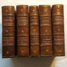 Libros antiguos: QUIJOTE,GALATEA, NOVELAS EJEMPLARES,PERSILES, OBRAS COMPLETAS MIGUEL CERVANTES 1880 MINIATURA (5VOL.. Lote 292225223