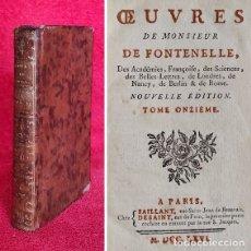 Livros antigos: AÑO 1766 - OBRAS DE FONTENELLE - HERMOSA PORTADA A DOS TINTAS. Lote 294028553