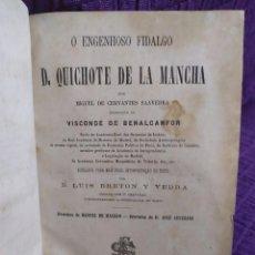 Libros antiguos: 1878. DON QUICHOTE DE LA MANCHA. LUIS BRETON Y VEDRA.. Lote 294503853