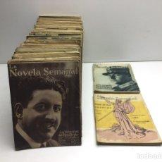 Libros antiguos: LOTE DE LA NOVELA SEMANAL 70 NOVELAS - AÑOS 20. Lote 295028803