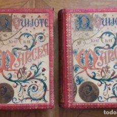 Libros antiguos: DON QUIJOTE DE LA MANCHA. 2 TOMOS. F. SEIX EDITOR. AÑO 1848. Lote 296854128