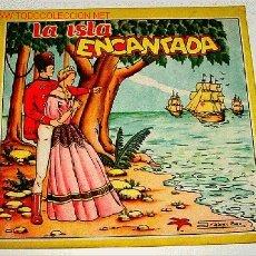 Libros antiguos: ANTIGUO CUENTO - LA ISLA ENCANTADA - ILUSTRACIONES DE ISABEL BAS - ED. REDECILLA. Lote 809120