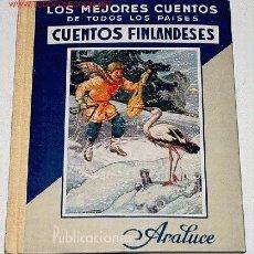 Libros antiguos: MEJORES CUENTOS FINLANDESES - 1ª EDICION - LOS MEJORES CUENTOS PARA NIÑOS. TOMO XXIX - BARCELONA ARA. Lote 13638931