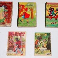 Libros antiguos: ANTIGUO LOTE DE 5 CUENTOS - 3 CON PASTAS DURAS - MIDEN 8 X 5,5 CMS.. Lote 8504681