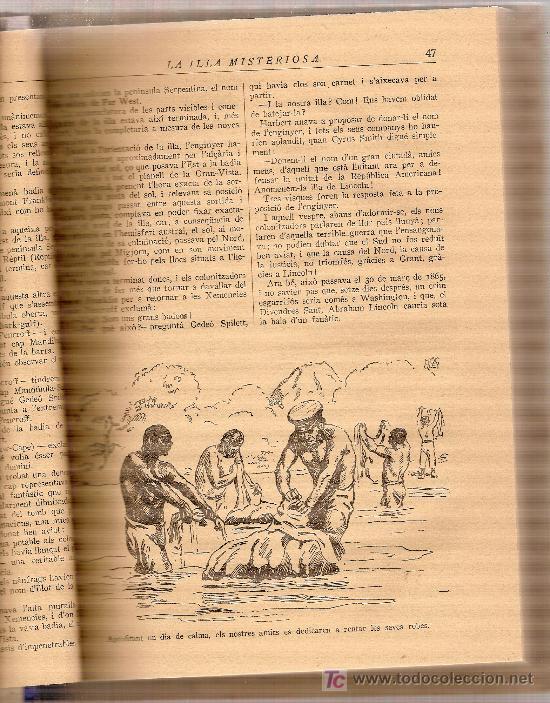 Libros antiguos: La illa misteriosa / Juli Verne; ilust. Joan Bocquet . Barcelona : Mentora, s.a [1928?] - Foto 2 - 27249326