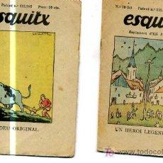 Libros antiguos: LOTE DE DOS CUENTOS ESQUITX . AÑOS 20.SUPLEMENTO D'EN PATUFET. BARCELONA.. Lote 3750706