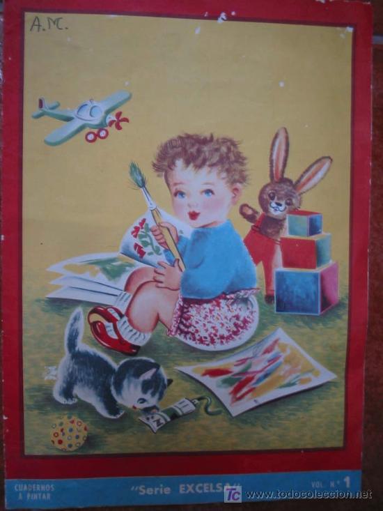 CUADERNOS A PINTAR. SERIE EXCELSA. VOL.Nº1. 1959. ED.ROMA (Libros Antiguos, Raros y Curiosos - Literatura Infantil y Juvenil - Cuentos)