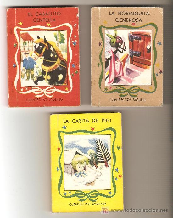 LOTE DE 3 CUENTECITOS MOLINO (Libros Antiguos, Raros y Curiosos - Literatura Infantil y Juvenil - Cuentos)