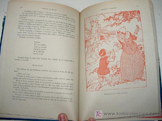 Libros antiguos: ANTIGUO CUENTOS DE GRIMM - ILUSTRACCIONES DE GIMENEZ NIEBLA Y MONSO - ED. MAUCCI - AÑO 1960 - 158 PA - Foto 2 - 18930676